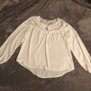 Charlotte Russe loose white blouse